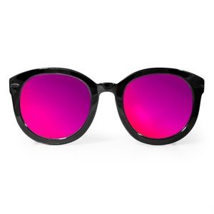 AQS PURPLE 'BETTY' OVERSIZED ROUND SUNGLASSES